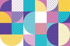 Abstract multicolored geometrisch patroon in pastelkleur Royalty-vrije Stock Foto