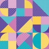 Abstract multicolored geometrisch patroon in pastelkleur stock illustratie