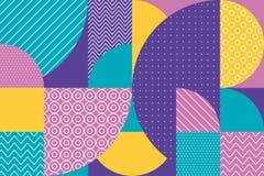 Abstract multicolored geometrisch patroon in pastelkleur Stock Foto