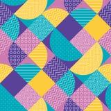 Abstract multicolored geometrisch patroon in pastelkleur Royalty-vrije Stock Fotografie