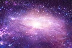Abstract Multicolored Glowing Nebula Galaxy in A Space Artwork stock photography
