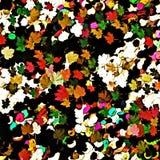 Abstract multicolored grafisch patroon als achtergrond, decor met kunststickers in bladvorm vector illustratie