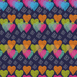 Abstract multicolored hearts Royalty Free Stock Photos