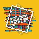 Abstract multicolored kader Document stijl met schaduw en volume Voor uw ontwerp Een promotieteken om klanten aan te trekken Stock Foto's