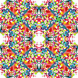 Abstract multicolored kaleidoscope background royalty free illustration