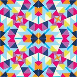 Abstract multicolored kaleidoscope background Stock Photos