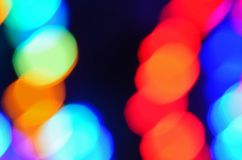 Abstract multicolored lichten bokeh behang als achtergrond Stock Foto