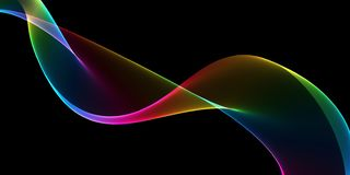 Abstract multicolored light waves background. Beautiful Abstract multicolored light waves background royalty free illustration