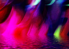 Abstract Multicolored Lights. Abstract of multicolored lights reflected on water Royalty Free Stock Photos