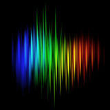Abstract multicolored linear background Royalty Free Stock Photos