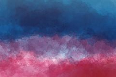 Abstract multicolored lined background in watercolors. stock photography