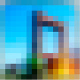 Abstract multicolored  mosaic  background Stock Photography