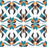 Abstract multicolored naadloos patroon Stock Afbeelding