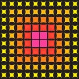 Abstract multicolored patroon van geometrische halftone vormen, Stock Illustratie