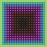 Abstract multicolored patroon van geometrische vormen stock illustratie