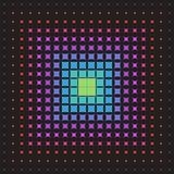 Abstract multicolored patroon van geometrische vormen halftone Stock Afbeelding