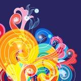 Abstract multicolored patroon van verschillende krullen Royalty-vrije Stock Fotografie