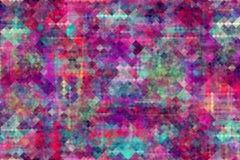 Abstract multicolored pixelpatroon Grappige achtergrond stock illustratie