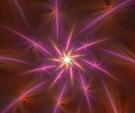 Abstract multicolored pluizig fractal computer geproduceerd beeld Royalty-vrije Stock Afbeelding