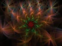 Abstract multicolored pluizig fractal computer geproduceerd beeld Vector Illustratie