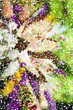 Abstract multicolored pointillist painting - big flower vector illustration