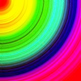 Abstract multicolored rainbow quarter circle background Stock Photography