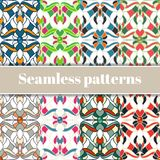 Abstract multicolored seamless patterns set Royalty Free Stock Photo