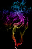 Abstract multicolored smoke Stock Photography