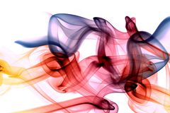 Abstract Artistic Colorful Soft And Smooth Smoke Effect Background stock illustration