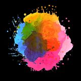 Abstract Multicolored Unique Set Of Colors On A Black Background royalty free illustration