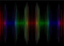 Abstract multicolored sound equalizer as background. Stock Image