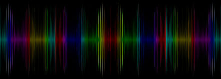Abstract multicolored sound equalizer display. Stock Photos