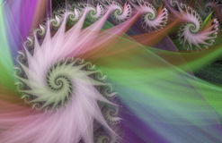 Abstract multicolored spiral. Royalty Free Stock Images