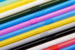 Abstract multicolored straws Royalty Free Stock Photos