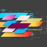 Abstract multicolored technology business background Stock Photography