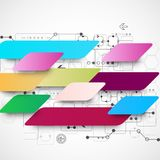 Abstract multicolored technology business background Royalty Free Stock Photography