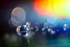 Abstract multicolored textuuronduidelijk beeld bokeh Royalty-vrije Stock Afbeeldingen