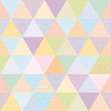 Abstract multicolored triangles repeat, fabric, modern Royalty Free Stock Photos