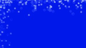Abstract background with a variety of colorful snowflakes. Big and small. stock photography