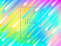Abstract multicolored background. Composition with dynamic colorful and stipple shape and frame for text or message. Abstract multicolored vector background Stock Photo