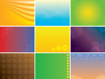 Abstract multicolored vector backgrounds pack Stock Photo