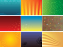 Abstract multicolored vector backgrounds pack Royalty Free Stock Images
