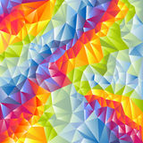 Abstract multicolored vector triangles background Stock Image
