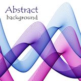 Abstract multicolored waves of transparent material. On a white background Vector Illustration