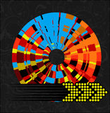 Abstract Multicolored Wheel and Arrow Royalty Free Stock Image