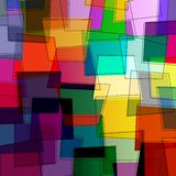 Abstract multicolred pattern stock illustration