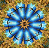 Abstract multifinal star with patterns. Stock Image
