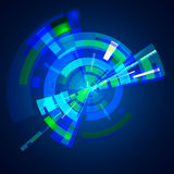 Abstract multilayer blue color gamma circle Stock Photo