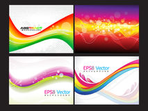 Abstract multiple background set. Vector illustration Royalty Free Stock Photography