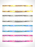 Abstract multiple banner set Royalty Free Stock Image